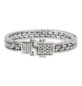 Keith Jack Keith Jack Dragon Weave Sterling Silver Bracelet