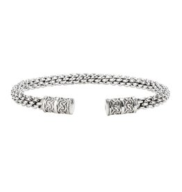 Keith Jack Keith Jack Dragon Weave Sterling Silver Bangle