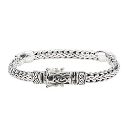 Keith Jack Keith Jack Dragon Weave Sterling Silver Mens Bracelet