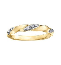 Yellow Gold (0.05ct) Diamond Stackable Band