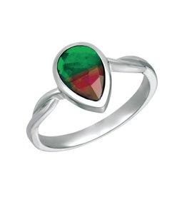 Korite Korite Makayla Ammolite Ladies Sterling Silver Twist Ring