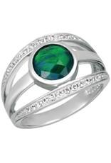 Korite Korite Pippa Ammolite Sterling Silver Twist Ring