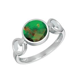 Korite Korite Leslie Ammolite Ladies Sterling Silver Ring
