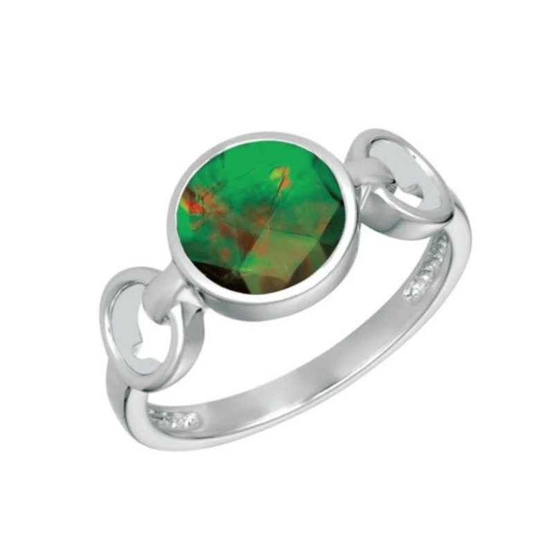 Korite Korite Leslie Ammolite Sterling Silver Openwork Ring