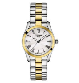 Tissot Tissot T-Wave Ladies Two Tone with mother of Pearl Dial Watch
