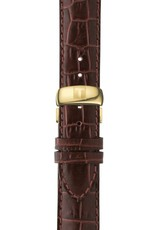 Tissot Tissot Le Locle Powermatic 80 Mens Gold Tone Brown Leather Strap Watch Watch