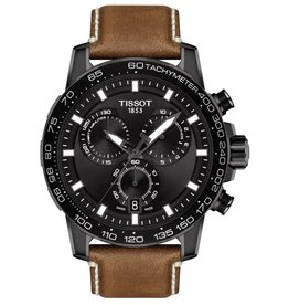 Tissot Tissot Supersport Chrono Black Tone Beige Leather Strap