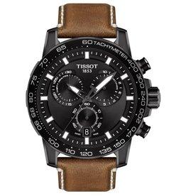 Tissot Tissot Supersport Chrono Men's  Black Tone Black Dial Beige Leather Strap Watch