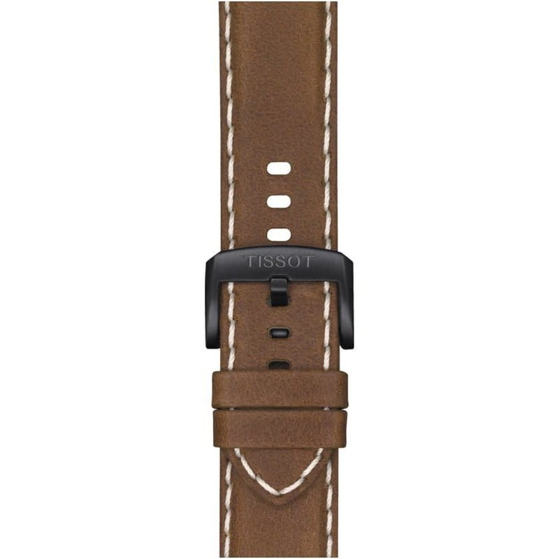 Tissot Tissot Supersport Chrono Mens  Black Tone Beige Leather Strap Watch
