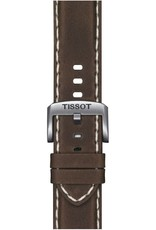 Tissot Tissot Supersport Chrono Mens  Silver Tone Brown Leather Strap Watch