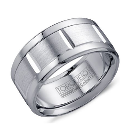 Torque Torque Cobalt and 14K White Gold 10.5mm Men's Wedding Band