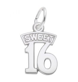 Nuco Sterling Silver Sweet 16 Pendant