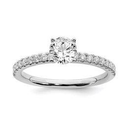 Lab Grown 14K White Gold (0.50ct) Lab Grown Diamond Engagement Ring