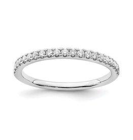 14K White Gold (0.25ct) Lab Grown Diamond Wedding Band