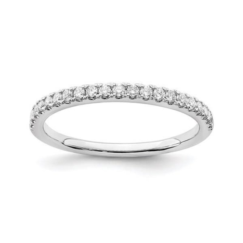 Lab Grown 14K White Gold (0.25ct) Lab Grown Diamond Wedding Band