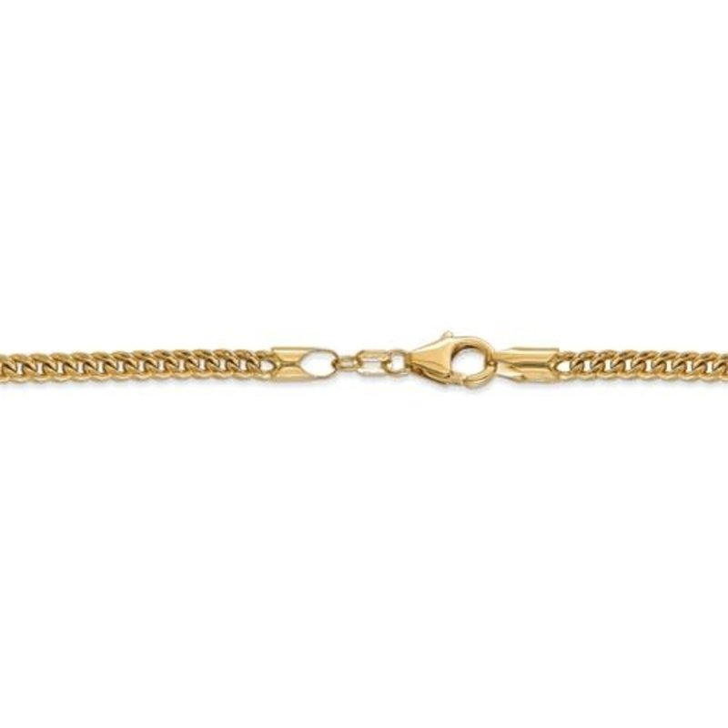 10K Yellow Gold (3mm) Hollow Franco Chain (20-26in)