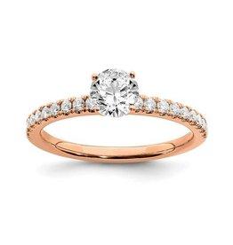 14K Rose Gold (0.50ct) Lab Grown Diamond Engagement Ring