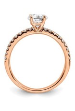 Lab Grown 14K Rose Gold (0.50ct) Lab Grown Diamond Engagement Ring