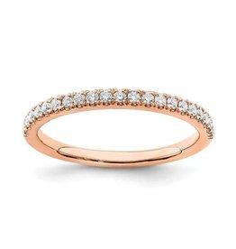 14K Rose Gold (0.25ct) Lab Grown Diamond Wedding Band