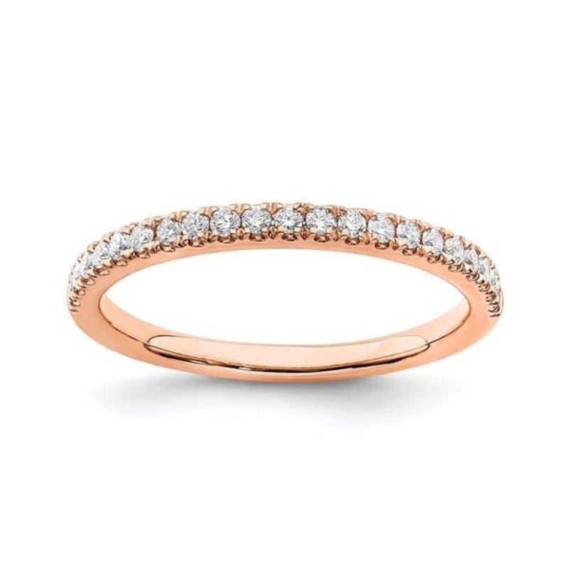 Lab Grown 14K Rose Gold (0.25ct) Lab Grown Diamond Wedding Band