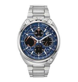 Citizen Citizen Promaster Tsuno Chrono Racer Men's Eco Drive Silver Tone with Blue Dial Watch