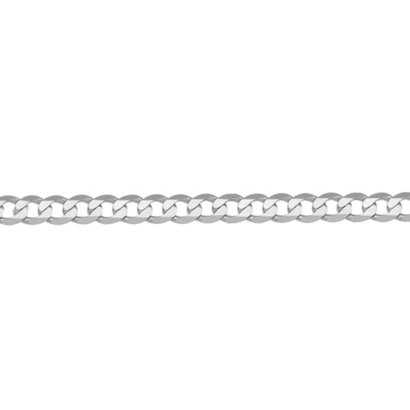 14K White Gold (3.7mm) Curb Chains (16-24in)