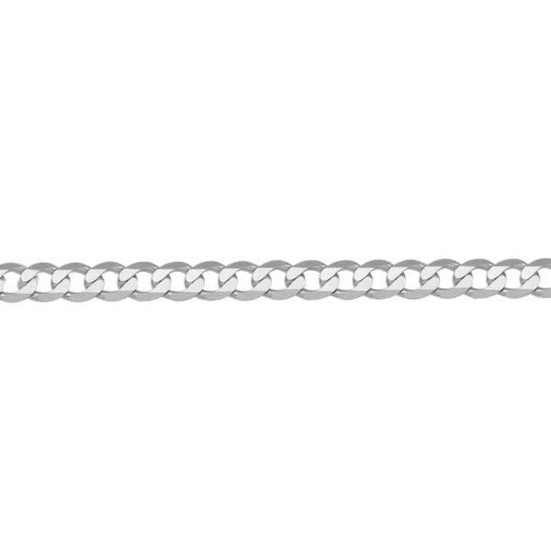 """14K White Gold (3.7mm) Curb Bracelet 7"""""""