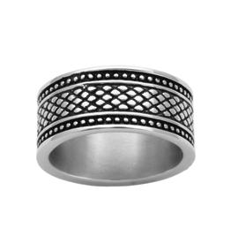 Steelx Steel Antique Barrel Ring