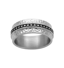 Steelx Steel Hammered Ring