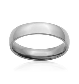 Steelx Mens Stainless Steel Plain Band Ring 5 mm