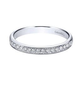 Gabriel & Co Gabriel & Co 14k White Gold Channel Prong Set Band