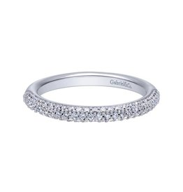 Gabriel & Co Gabriel and Co 14K White Gold Prong Set Diamond Anniversary Band