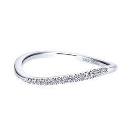 Gabriel & Co Gabriel & Co 14K White Gold Curved Wedding Band