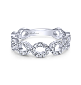 Gabriel & Co Gabriel & Co 14K White Gold Open Circles Diamond Band