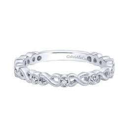 Gabriel & Co Gabriel & Co 14k White Gold Stackable Ladies Ring