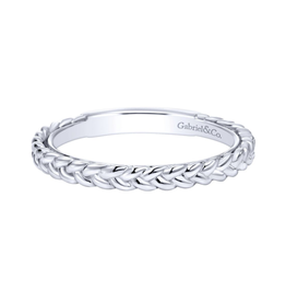 Gabriel & Co Gabriel & Co 14k White Gold Braided Stackable Ring