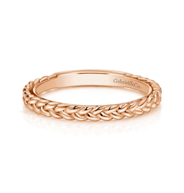 Gabriel & Co Gabriel & Co 14K Rose Gold Braided Stackable Ring