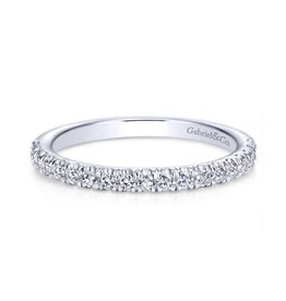 Gabriel & Co Gabriel & Co 14K White Gold (0.27ct) Diamond Wedding Band