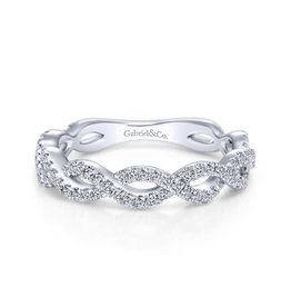 Gabriel & Co Gabriel & Co 14K White Gold Twisted Diamond Anniversary Band
