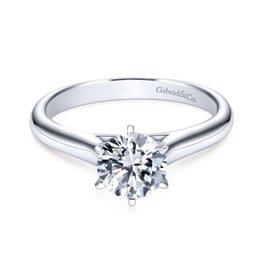 Gabriel & Co Gabriel & Co Allie 14K White Gold Round Diamond Solitaire Semi Mount Engagement Ring