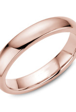 Rose Gold (4mm) Dome Band Size 3 to 13 (10K, 14K, 18K)