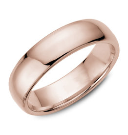 Rose Gold (6mm) Dome Band Size 3 to 13 (10K, 14K, 18K)