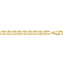 Yellow Gold (3mm) Anchor Ankle Bracelet (10K, 14K)
