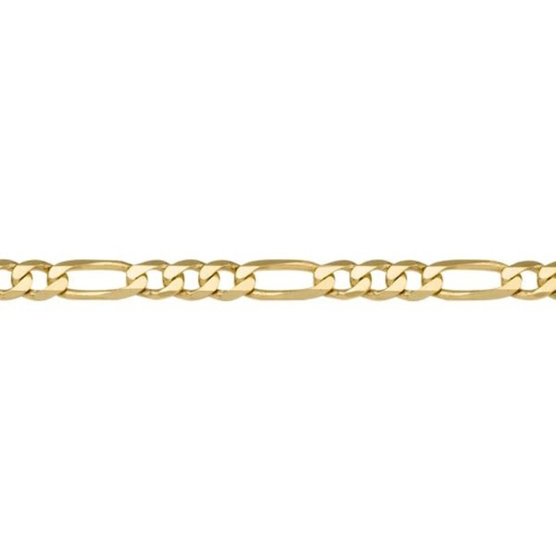 Yellow Gold (20 - 24in) Figaro Chains 4.6mm