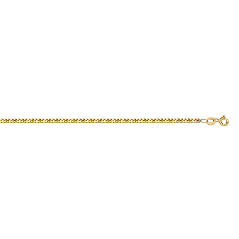 "10K Yellow Gold (1.0mm) Curb Chain (16"" - 20"")"