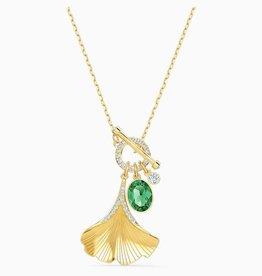 Swarovski Swarovski Ginko Stunning Pendant, Green, Gold Tone