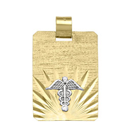 10K Yellow Gold Medical ID Pendant