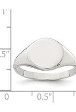 Sterling Silver Ladies Signet Ring