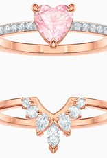 Swarovski Swarovski, One Set Ring, Multi Coloured, Rose Gold Plated