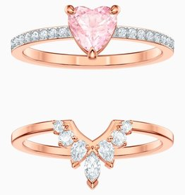 Swarovski Swarovski, One Set Ring, Multi Coloured, Rose Gold Plated